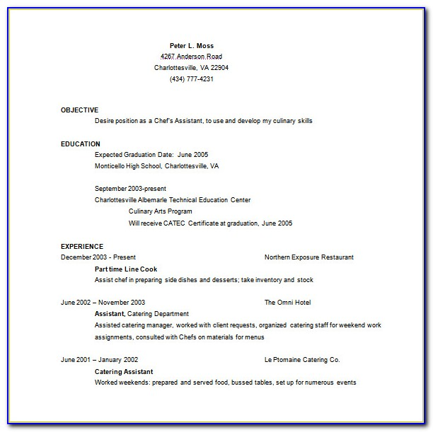 Resume Template For Certified Nursing Assistant