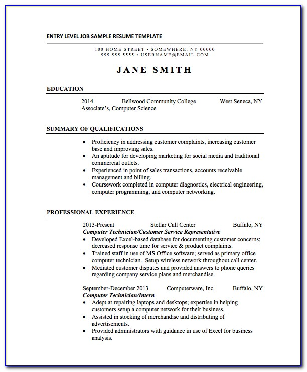 Resume Template For College Students Download