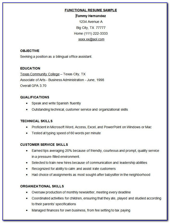 Resume Template For Delivery Driver Position