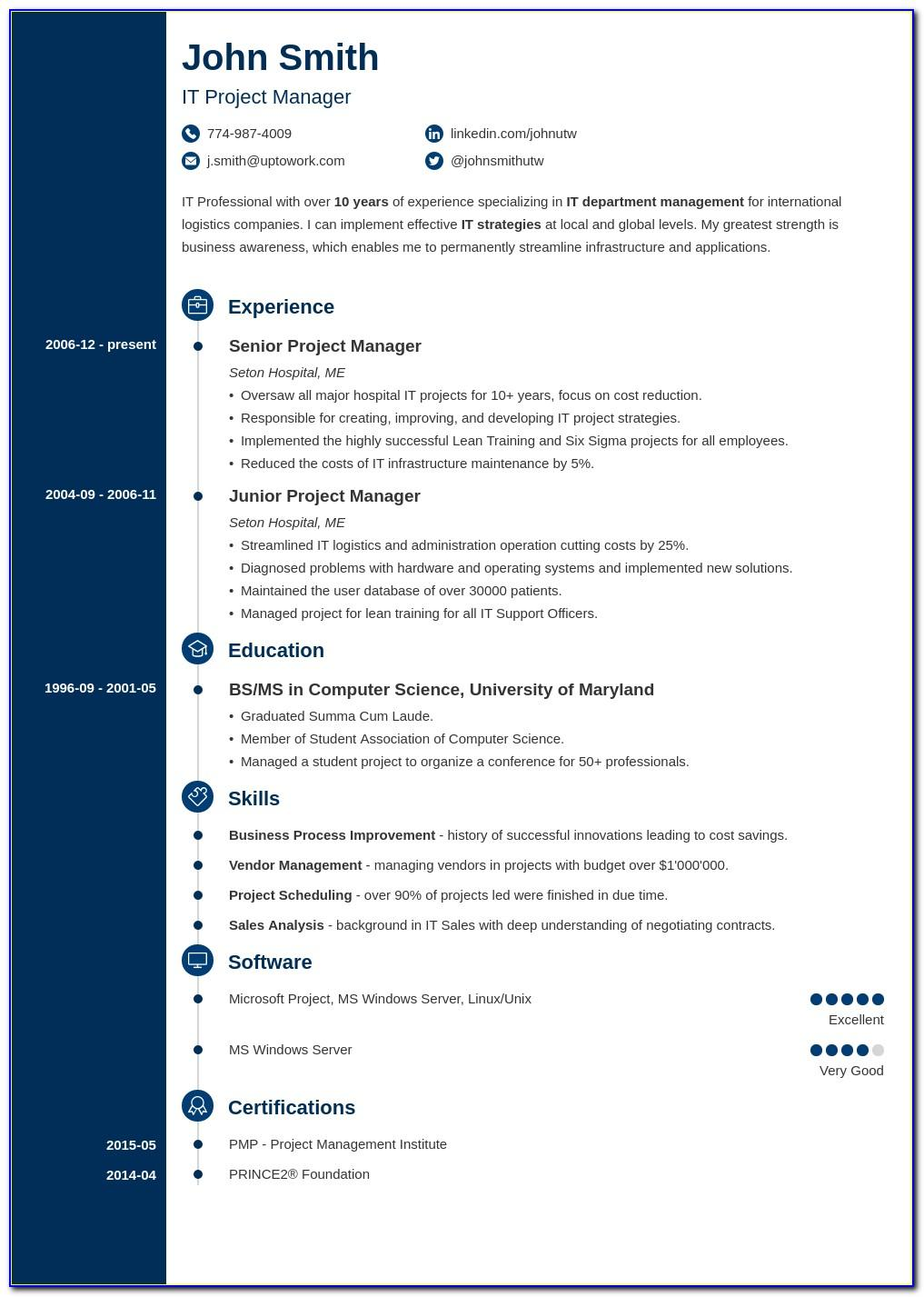 Resume Template For Engineering Freshers
