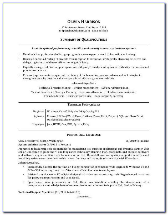 Resume Template For Entry Level Administrative Assistant