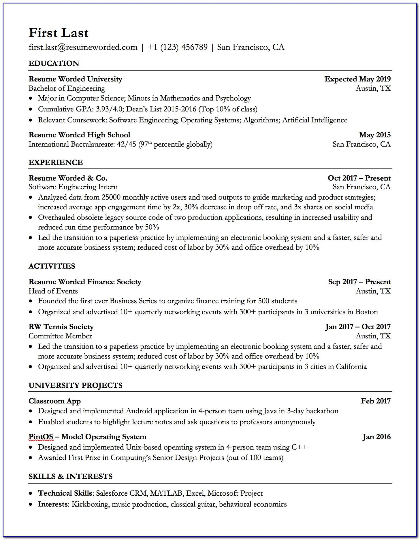 Resume Template For Executive Secretary