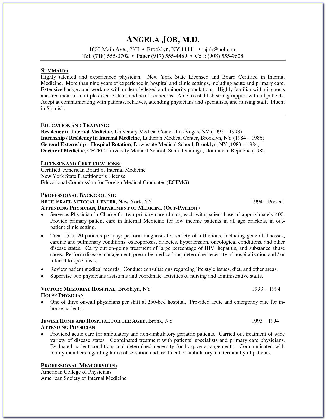 Resume Template For Fresh Graduate Doc