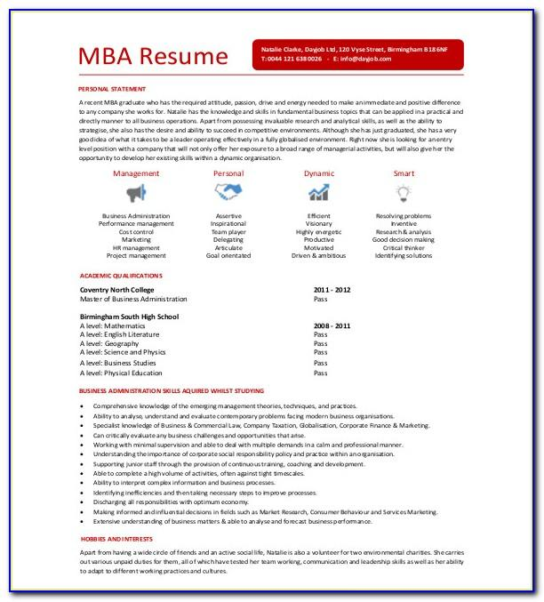 Resume Template For India