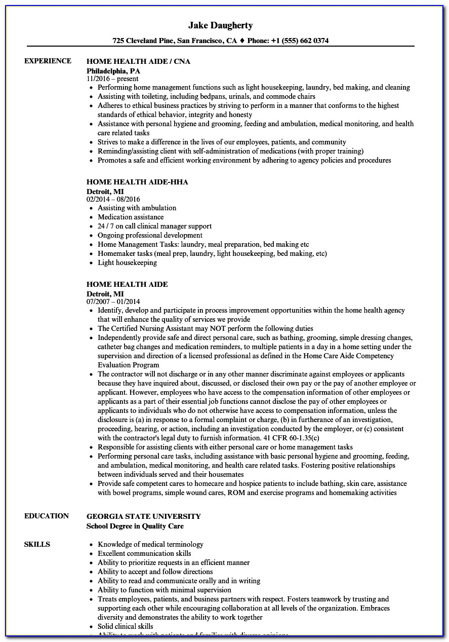 Resume Template For Little Work Experience