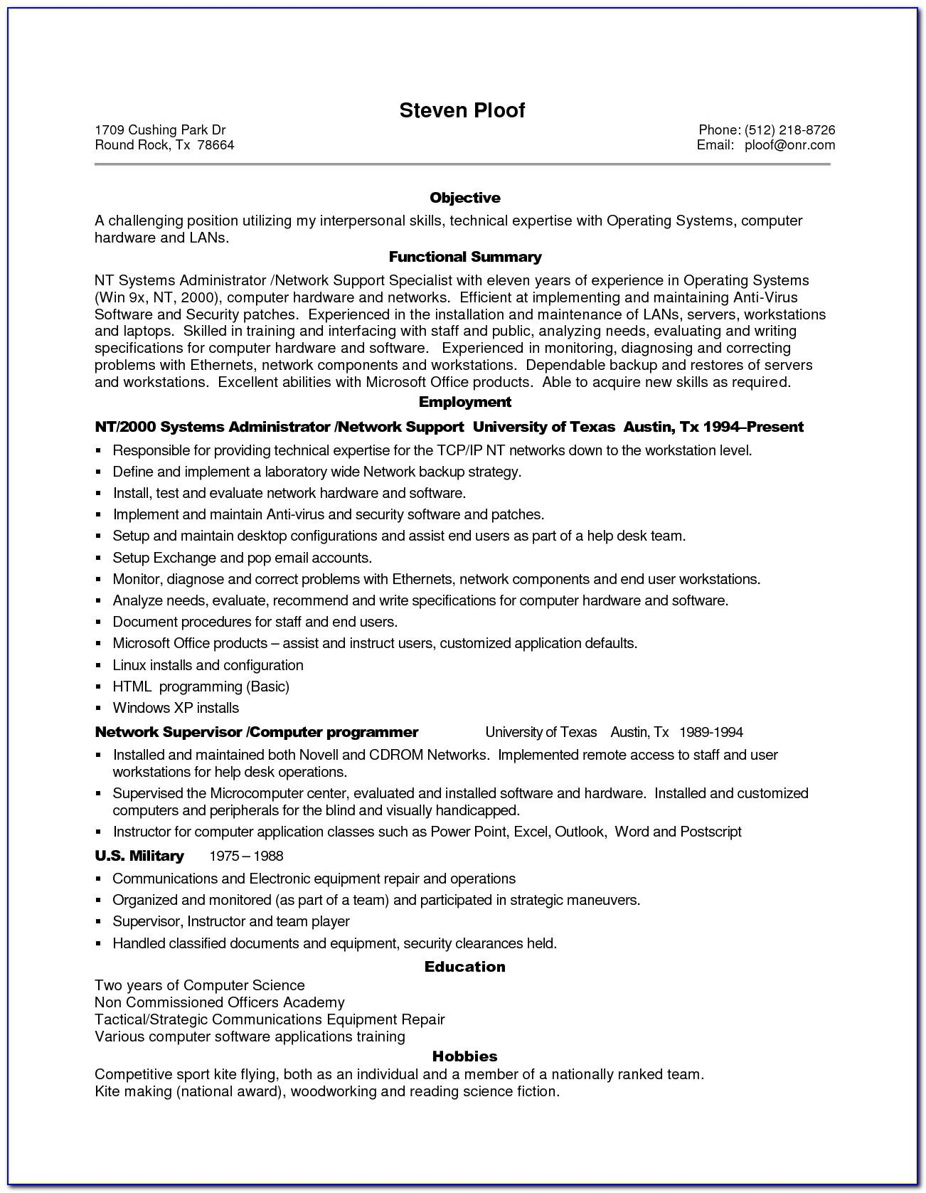 Resume Template For Managers Executives