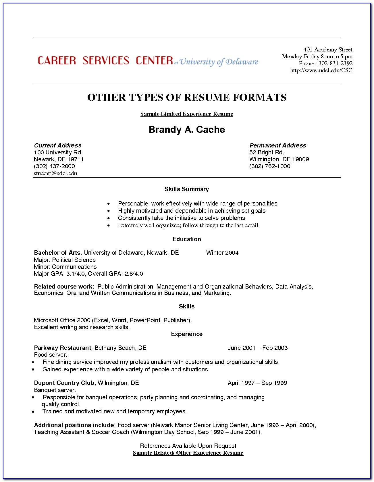 Resume Template For Medical Field