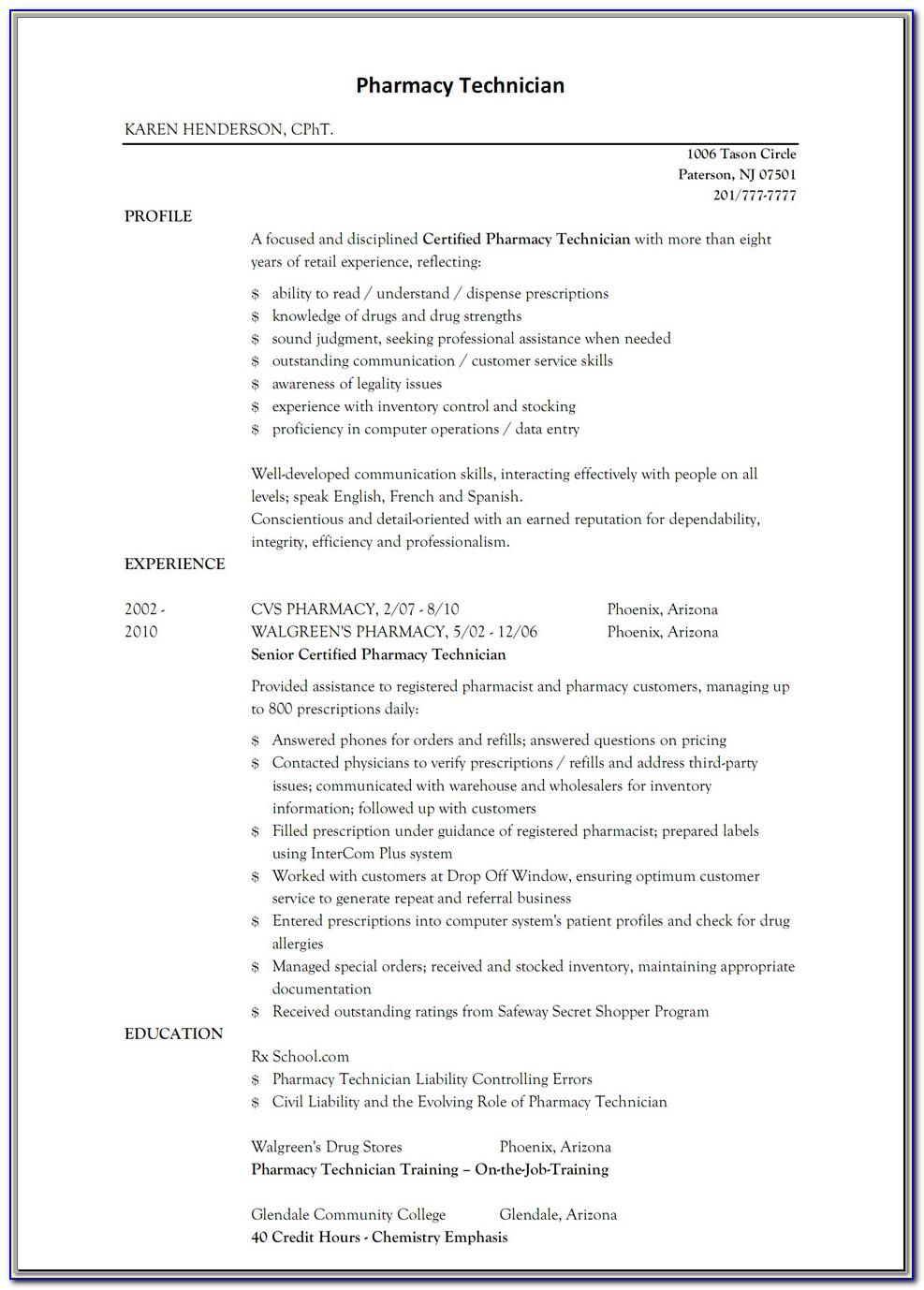 Resume Template For Retail Jobs