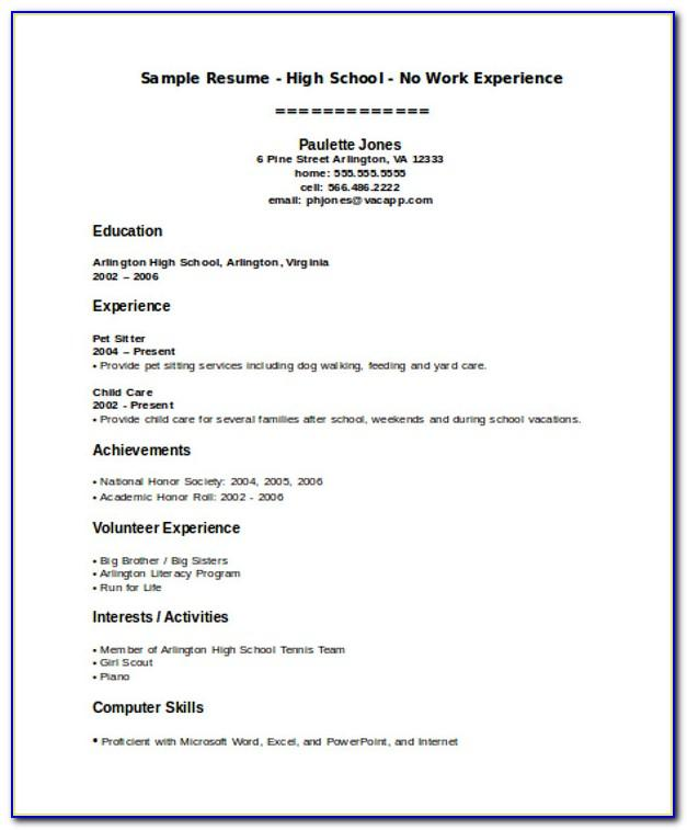 Resume Template For Teenager First Job Australia