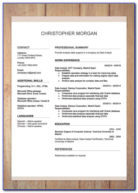 Resume Template For Veterinary Assistant