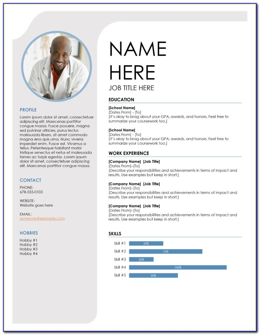 Resume Template For Word 2007 Free