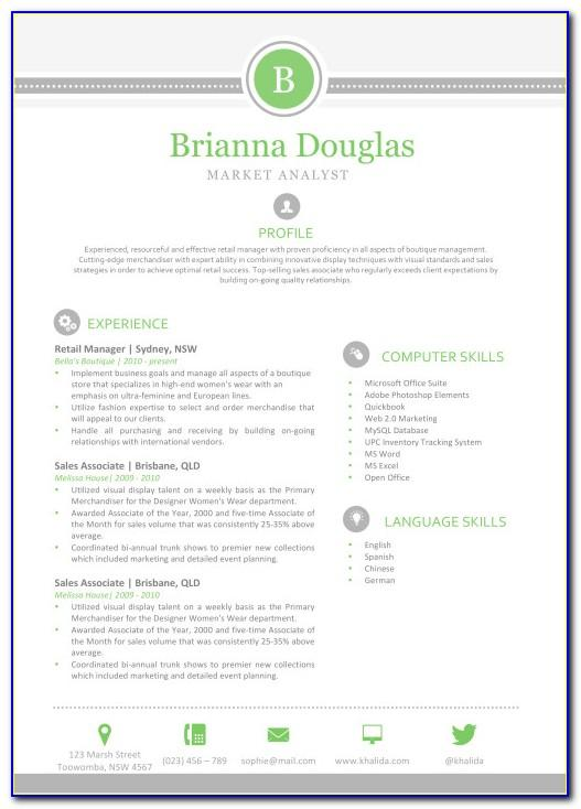 Resume Template Free Download Pdf