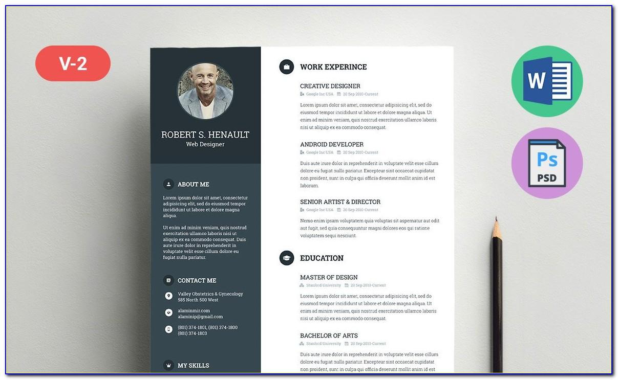 Resume Template Free Download Ppt