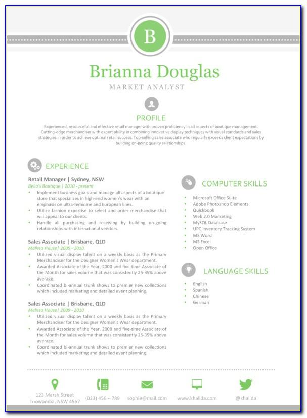 Resume Template Free Printable