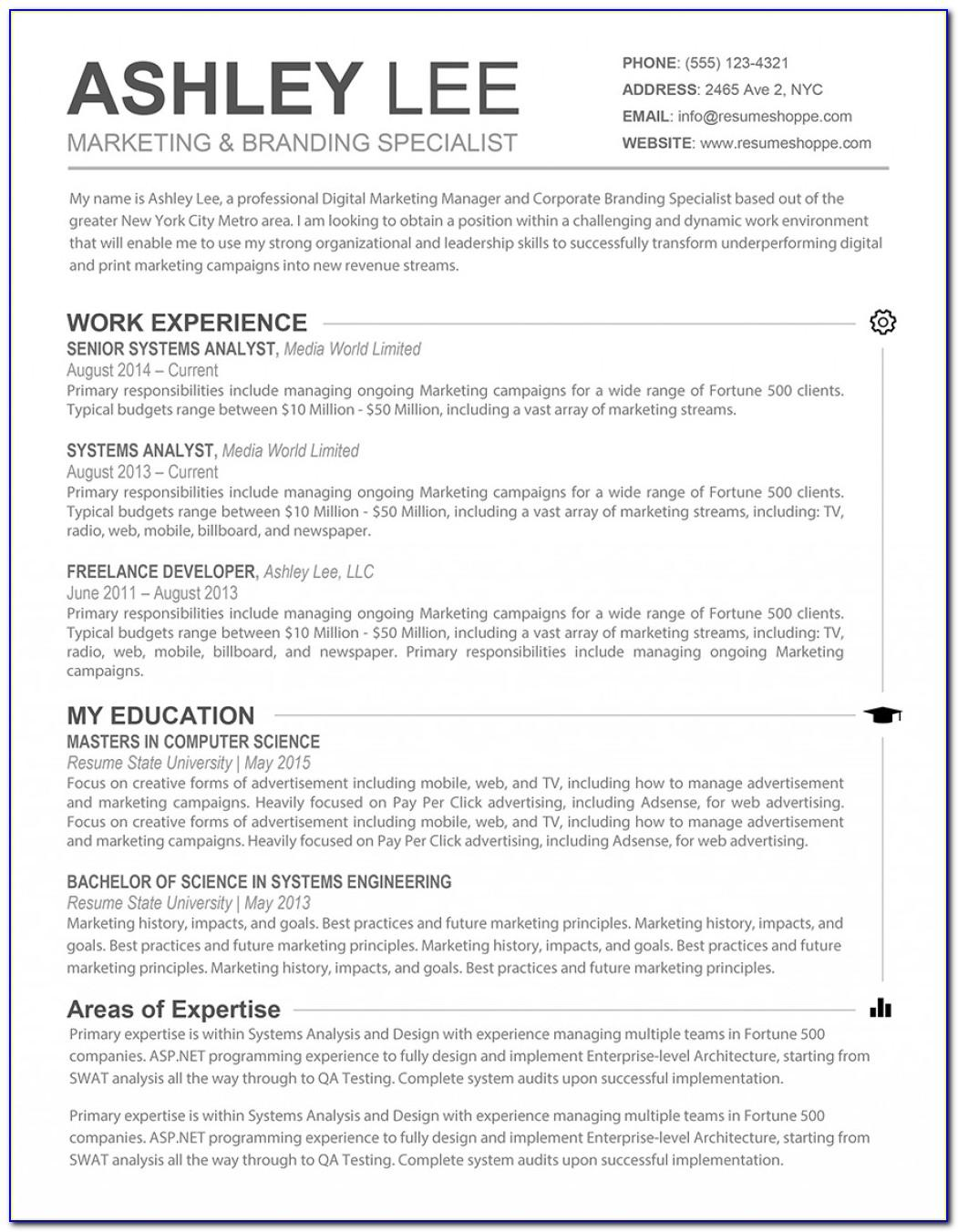 Resume Template Mac Pages Free