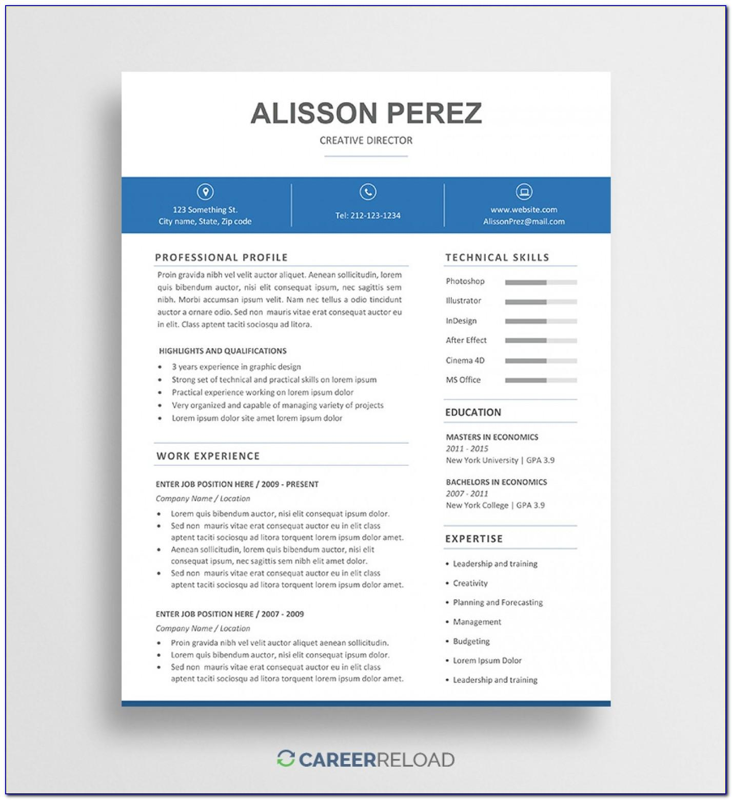 Resume Template Mac Word 2008