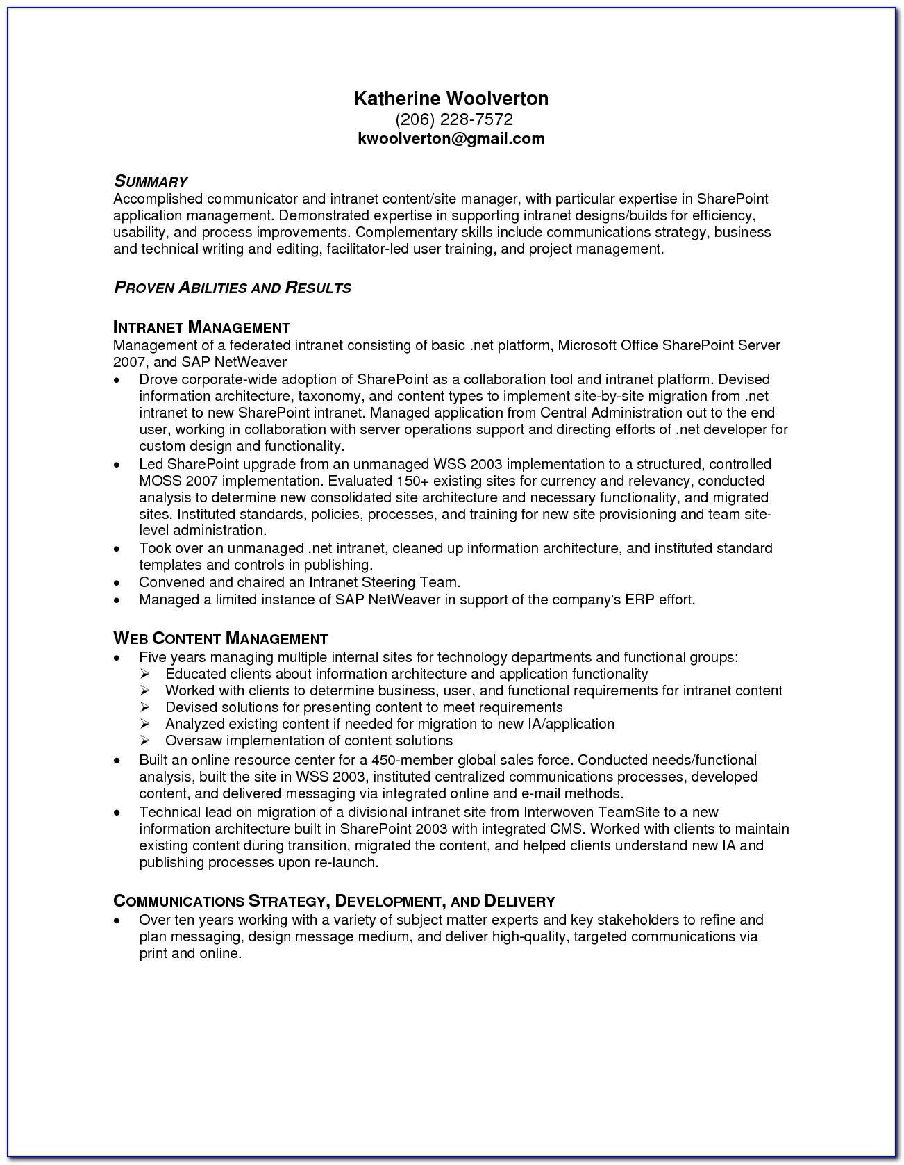 Resume Template Machine Operator