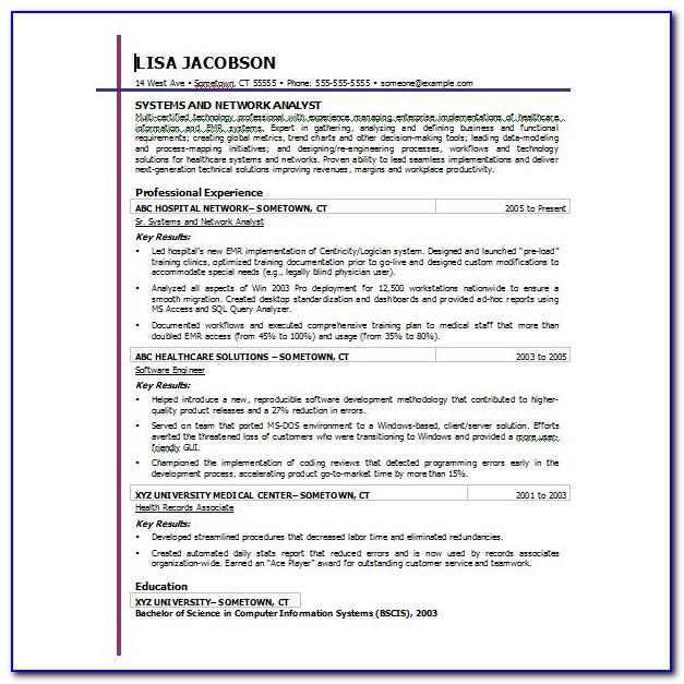 Resume Template Microsoft Word 2003 Download