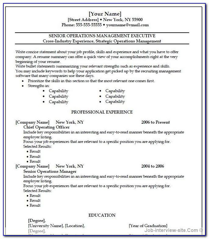 Resume Template Microsoft Word Online