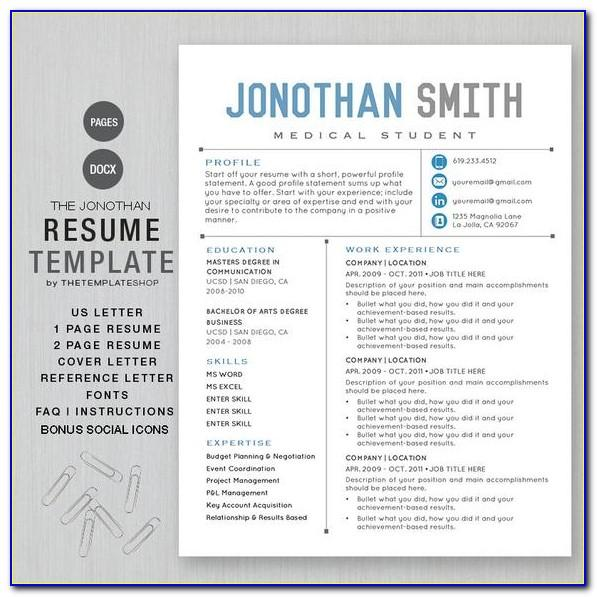 Resume Template Online Free Printable