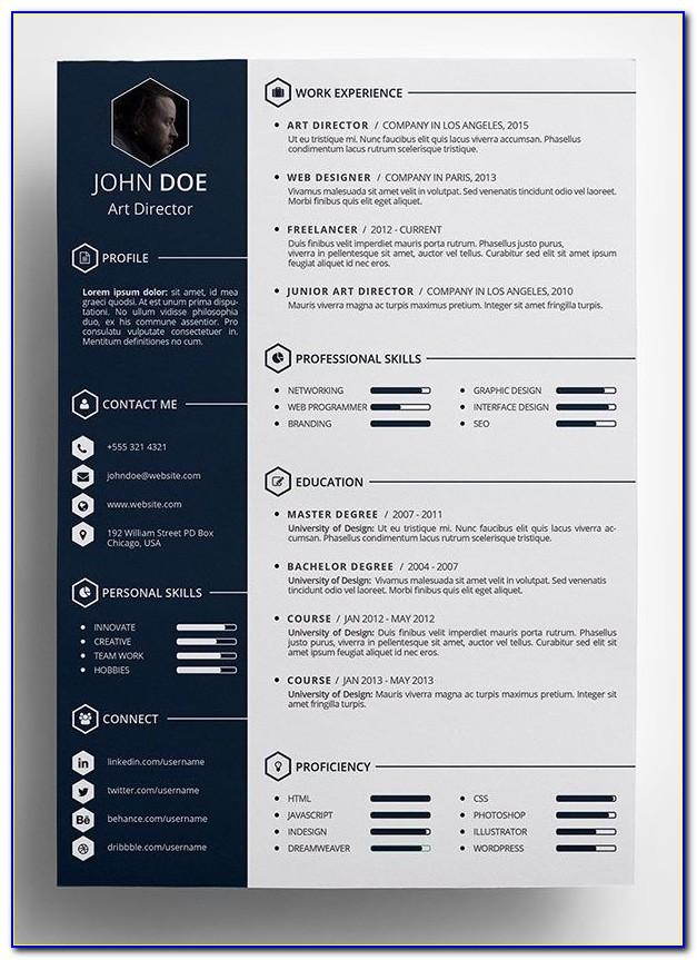 Resume Template Psd File Free Download
