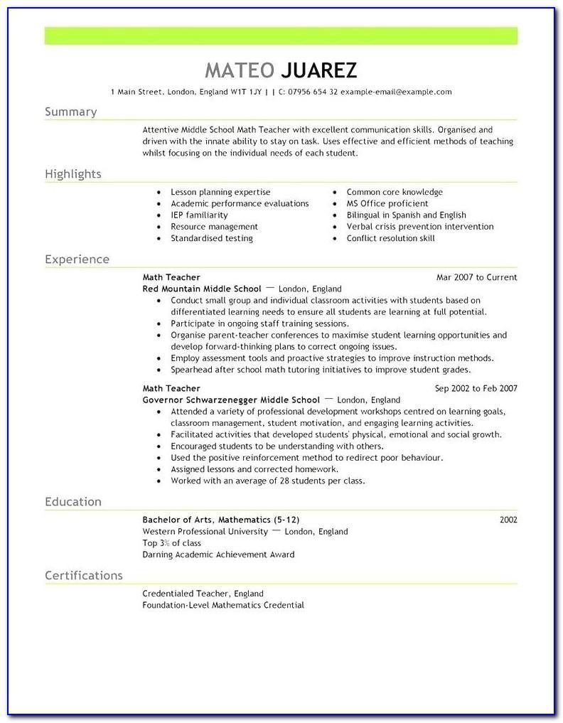 Resume Template Student Australia
