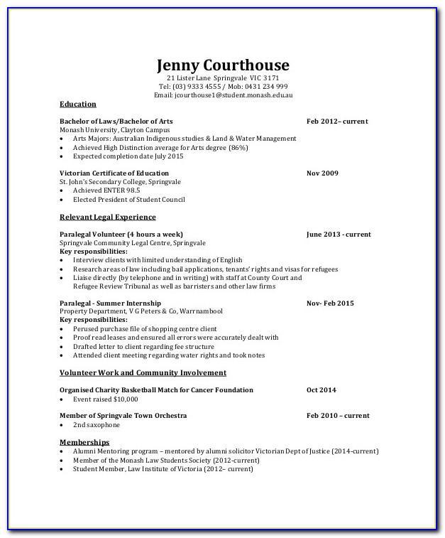 Resume Template Teenager Australia