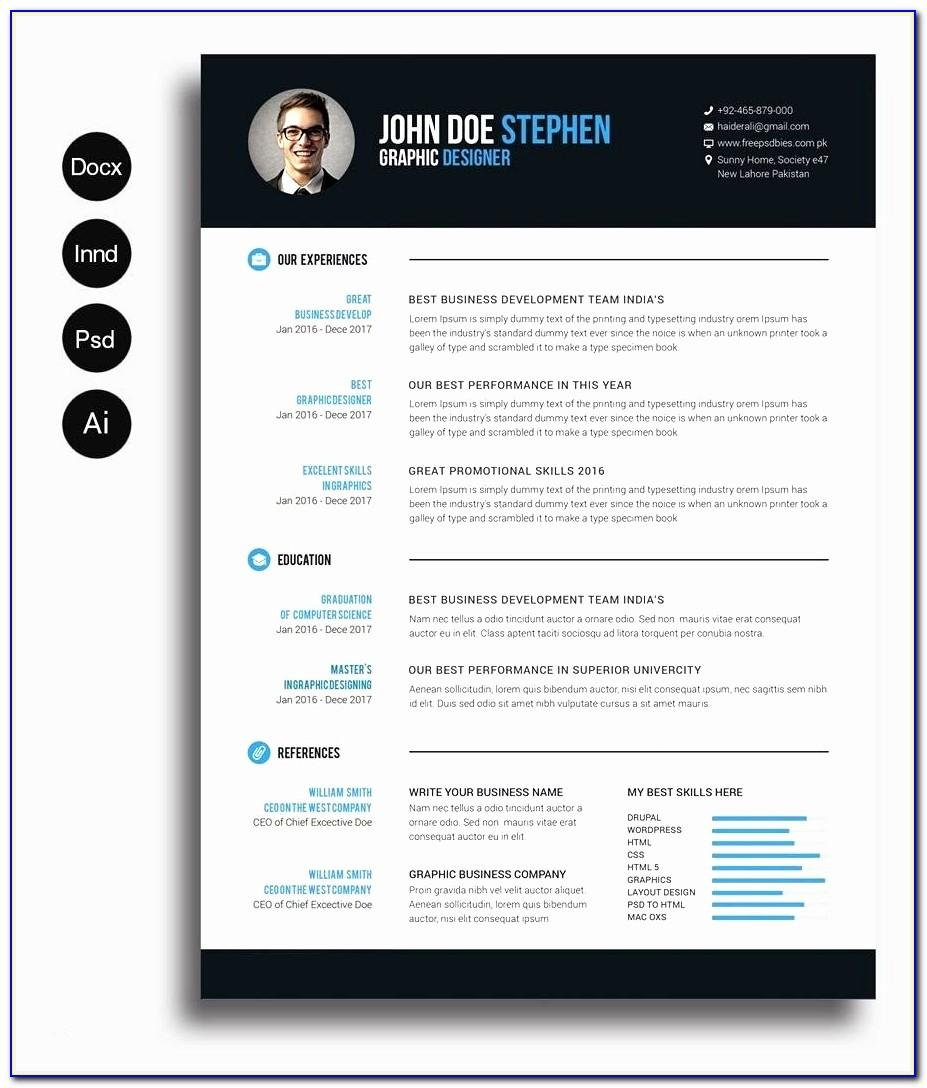 Resume Template Word For Mac