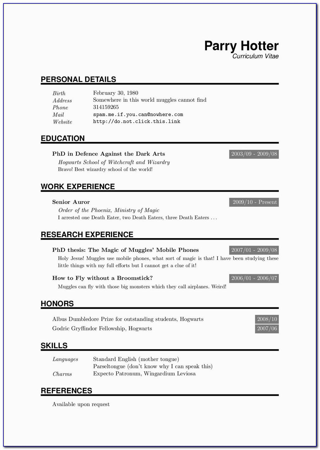 Resume Template Word Free Download Pdf