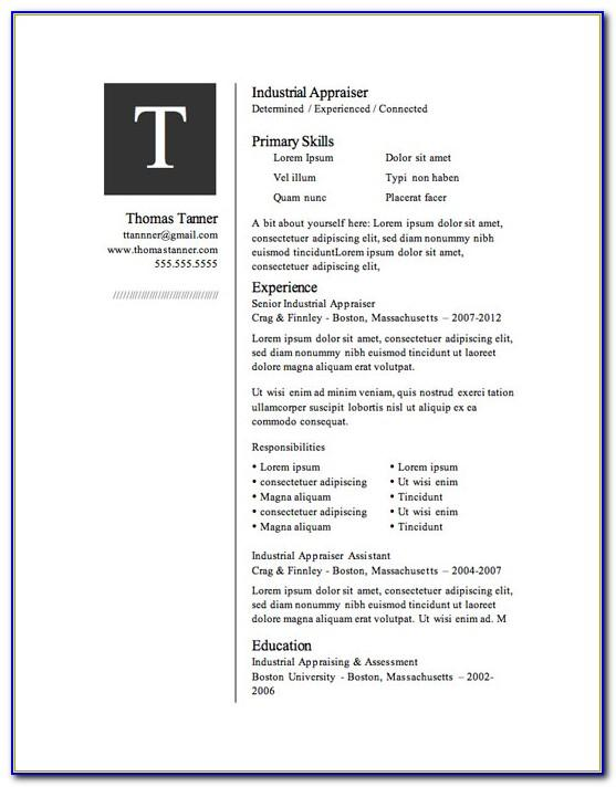 Resume Templates Download Microsoft Word