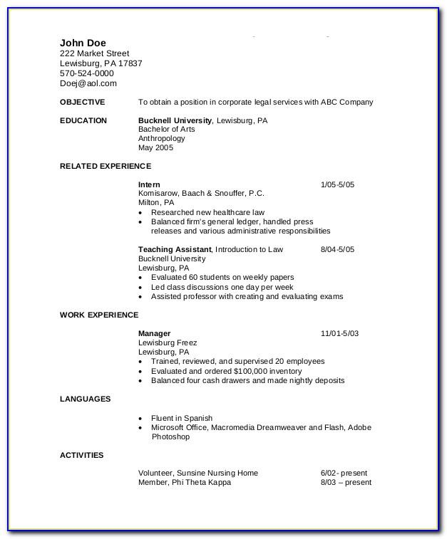 Resume Templates For Accounts Payable Position