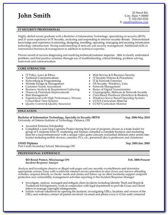 Resume Templates For Civil Engineers