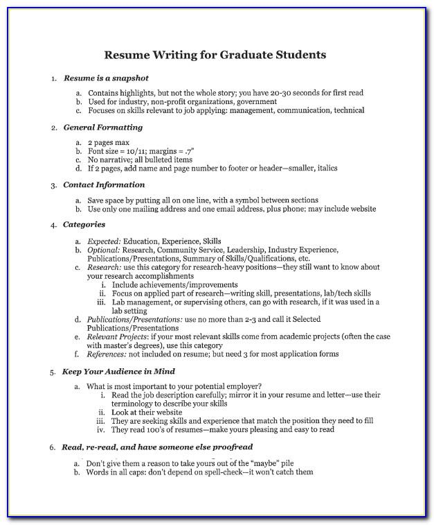 Resume Templates For College Admission