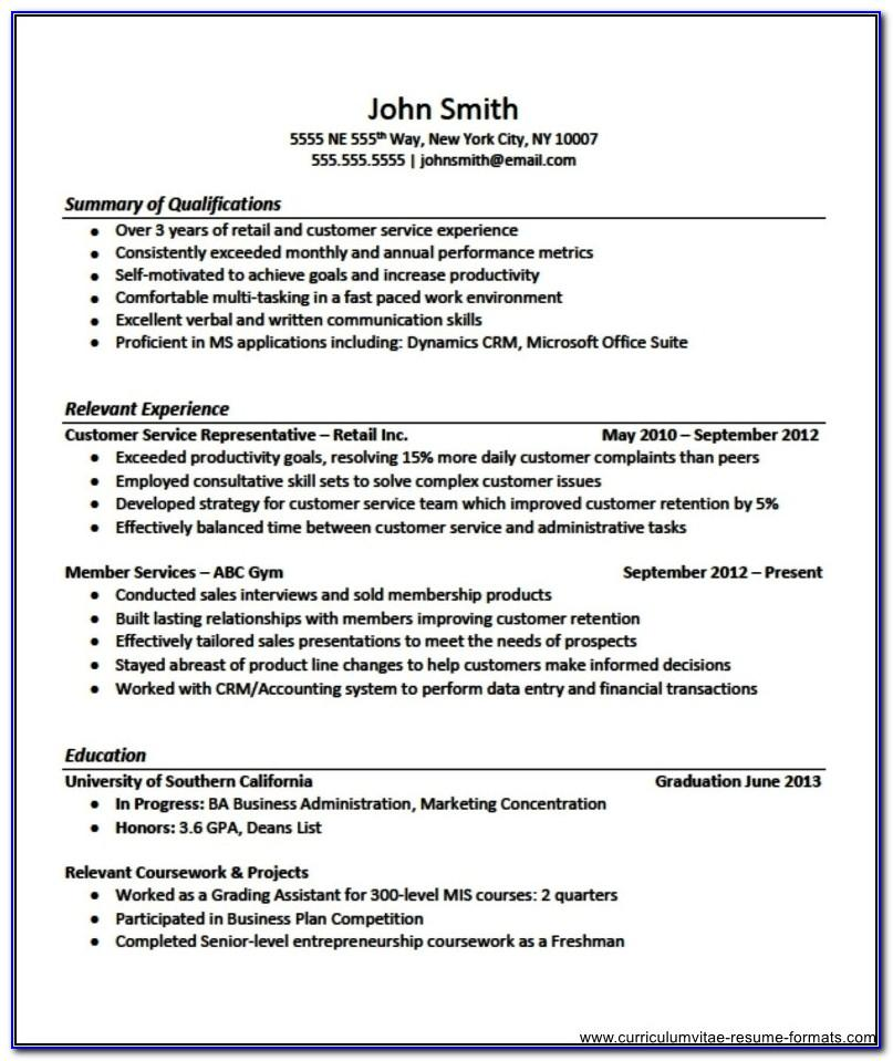 Resume Templates For Electronics Engineering Freshers