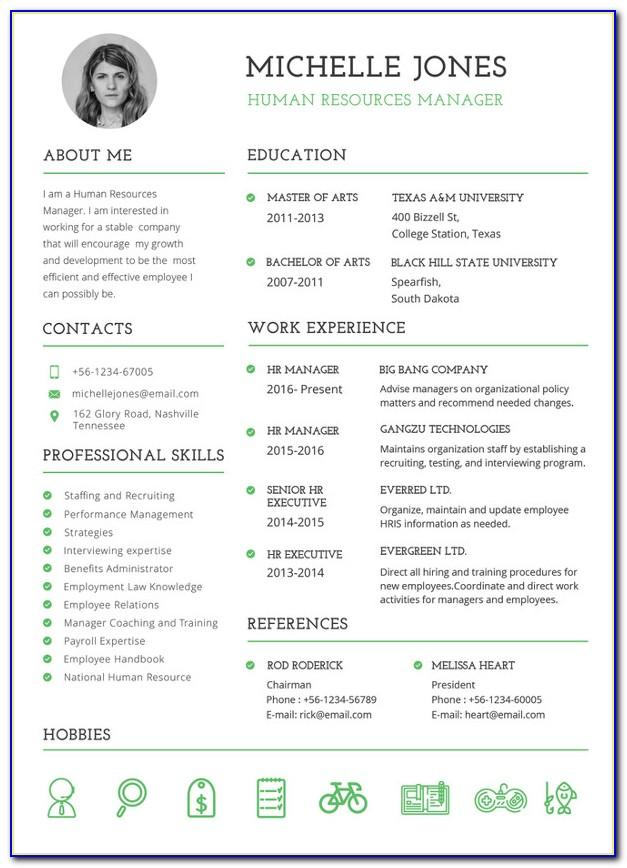 Resume Templates For Experienced It Professionals Free Download