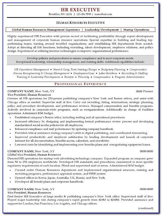 Resume Templates For Housekeeping Jobs