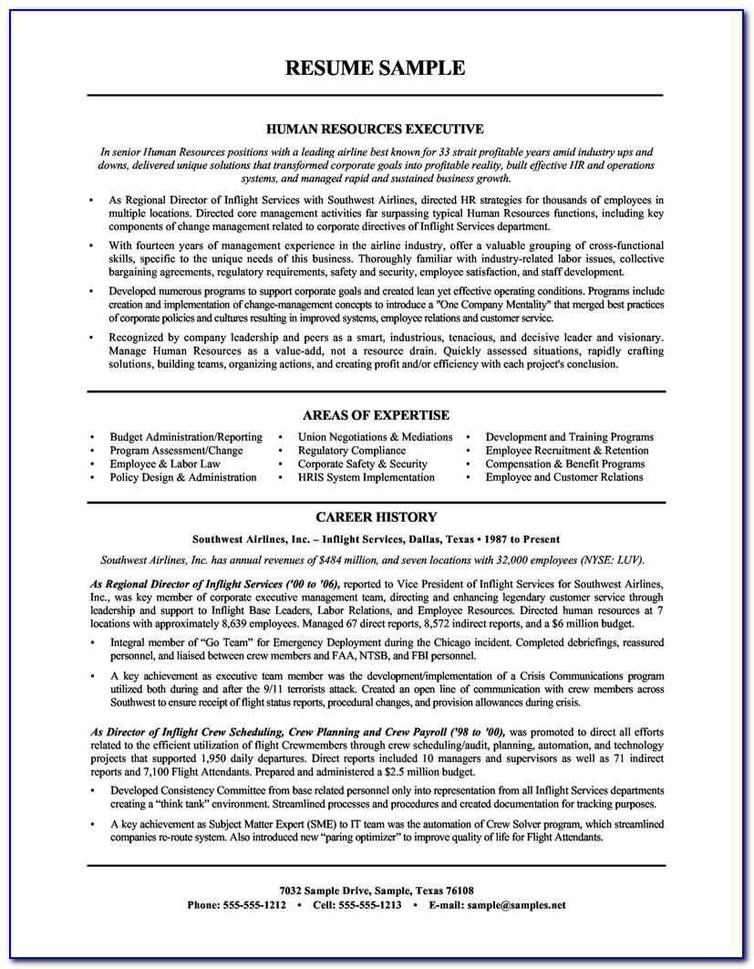 Resume Templates For Hr Manager
