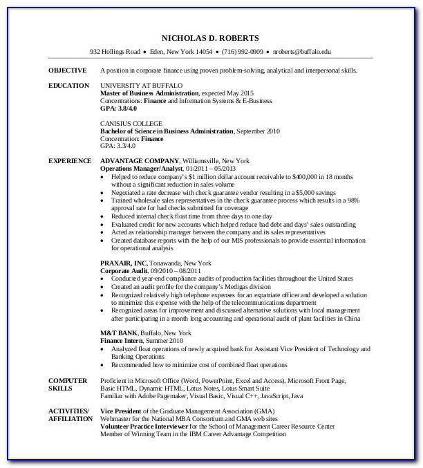 Resume Templates For Mba Marketing Freshers
