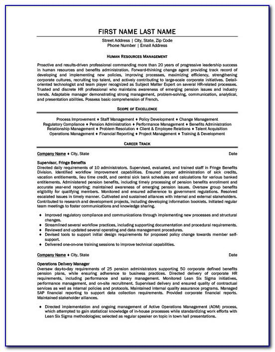 Resume Templates For Mba