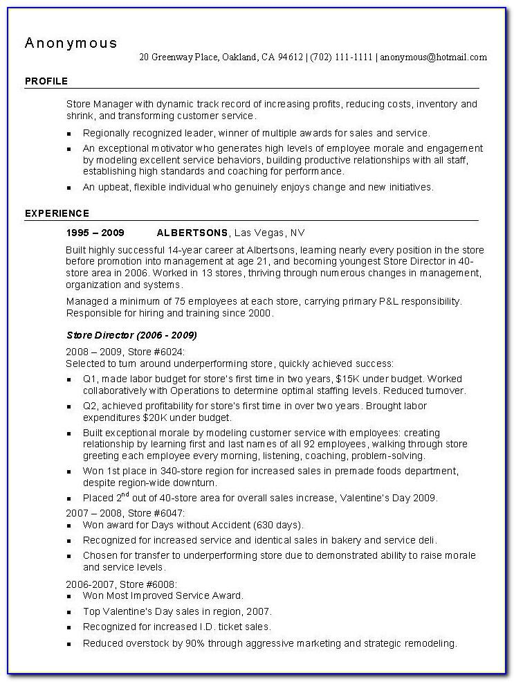 Resume Templates For New College Graduates