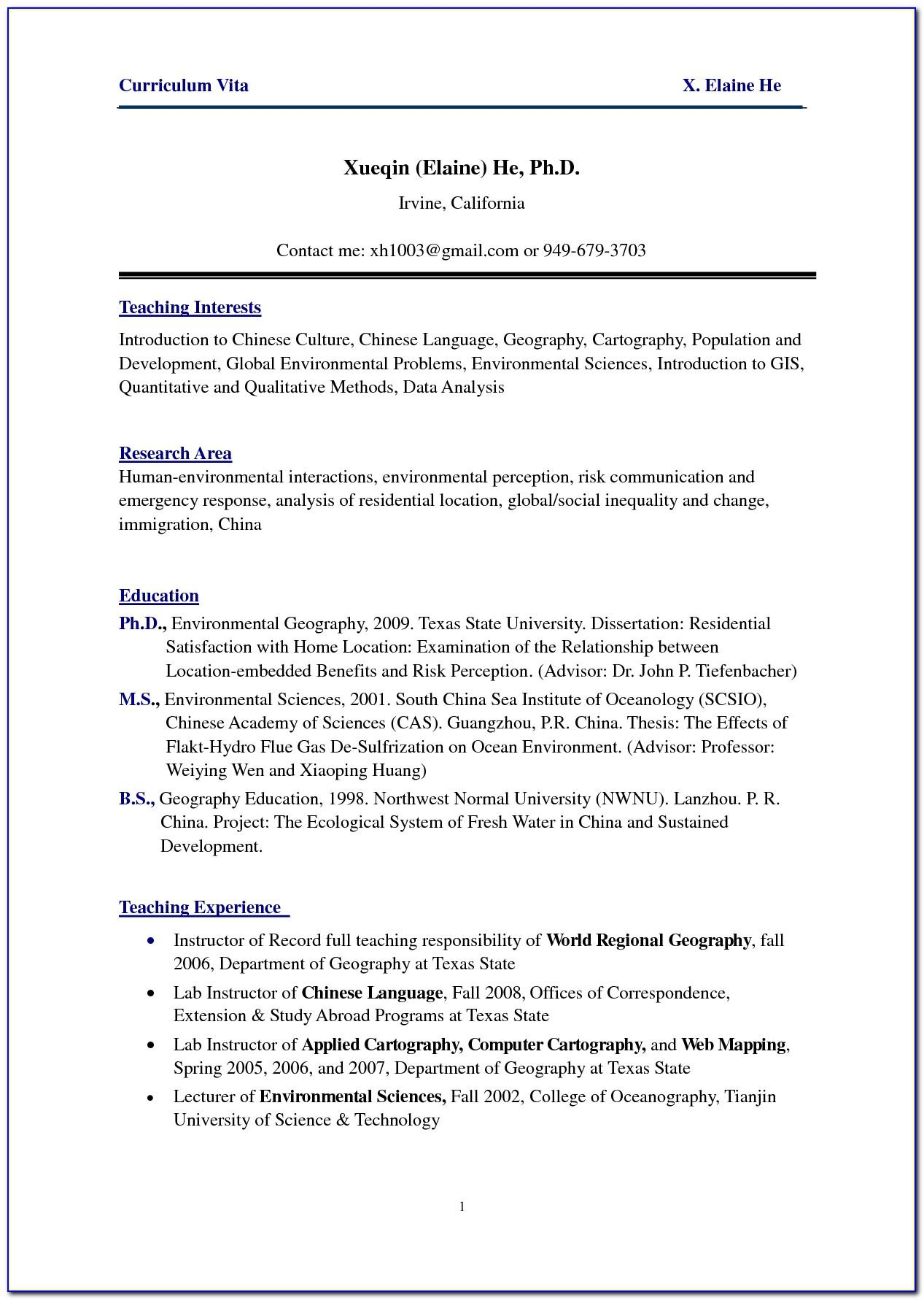 Resume Templates For Nurse Practitioners