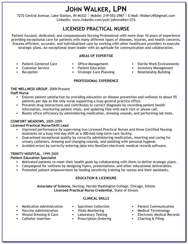 Resume Templates For Nurses Free