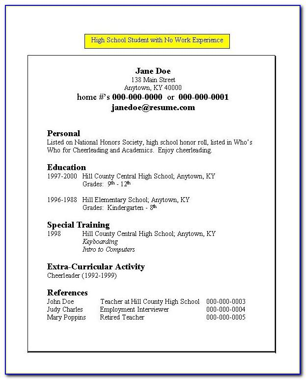 Resume Templates For Teachers 2014