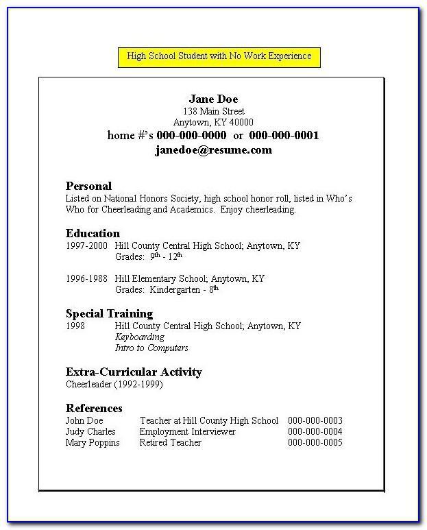 Resume Templates For Teachers 2014