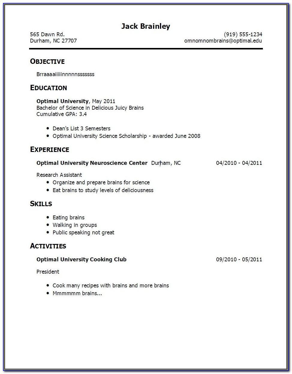 Resume Templates For Teachers Free