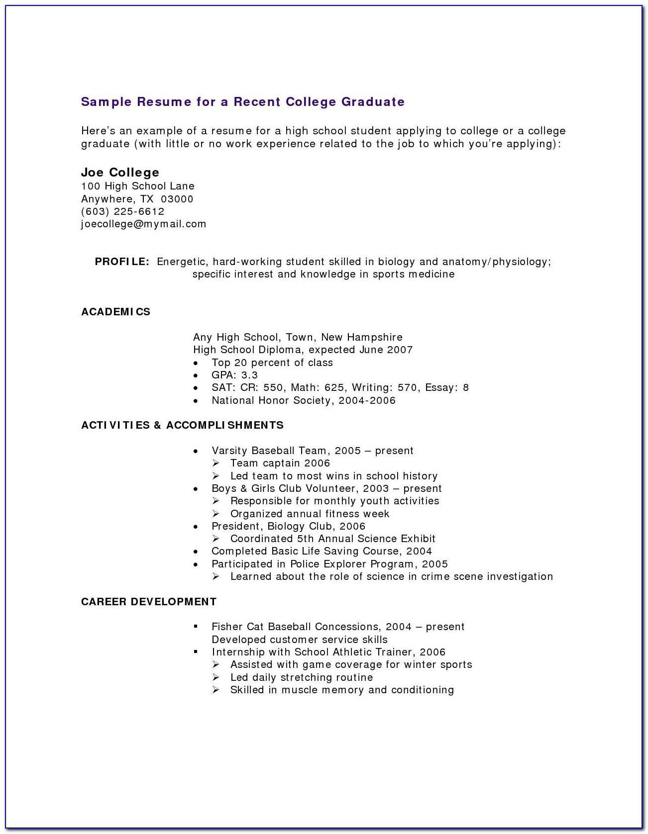 Resume Templates For Teachers Word