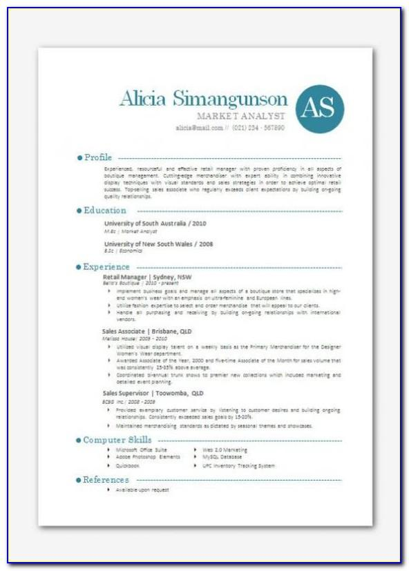 Resume Templates Free Download Word 2007