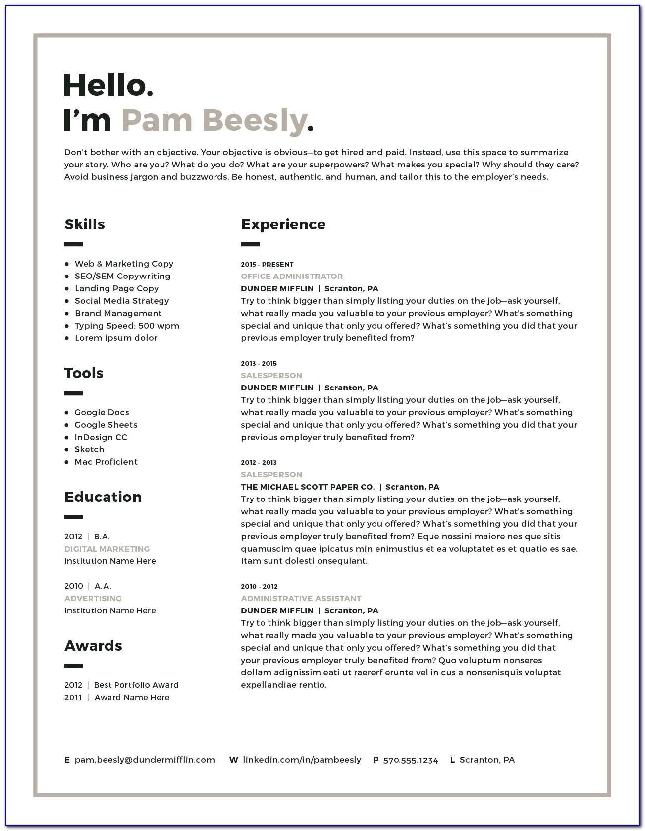 Resume Templates Mac Pages