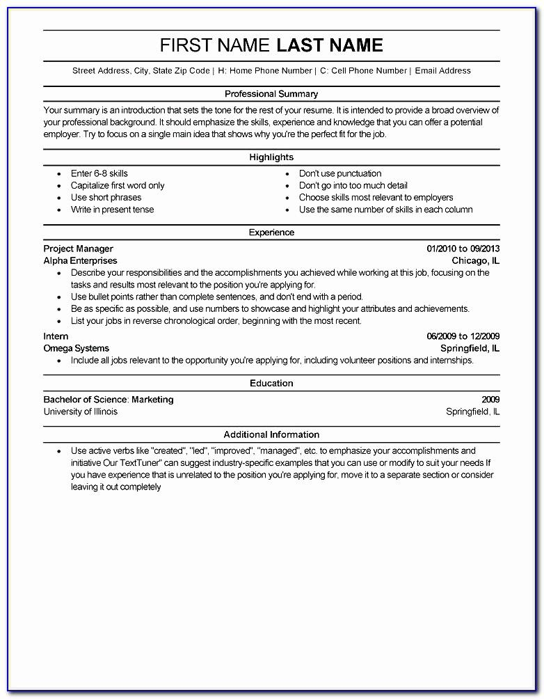 Resume Templates Microsoft Word Online