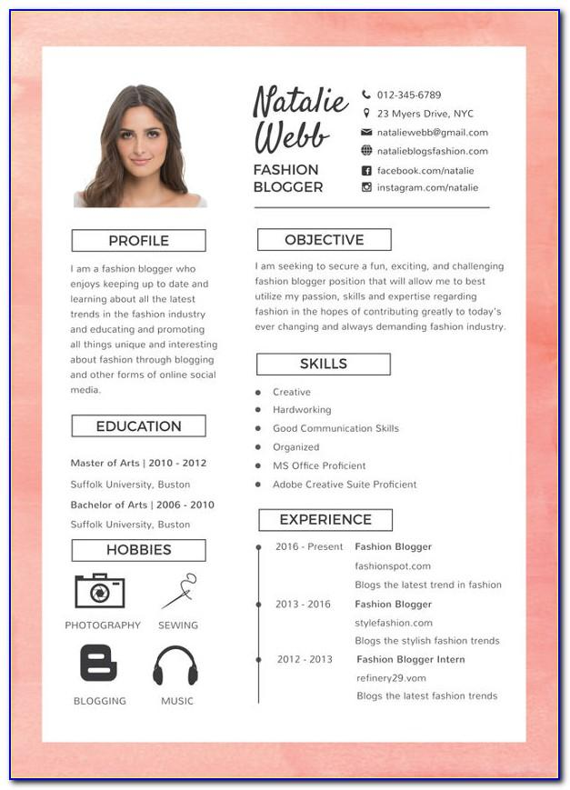 Resume Templates Pdf Download
